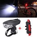 billiga LED-bi-pinlampor-LED Cykellyktor Set med laddningsbar cykelbelysning Framlykta till cykel Baklykta till cykel Bergscykling Cykel Cykelsport Vattentät Smart induktion Justerbar Quick Release 800 lm Laddningsbart USB