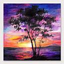 voordelige Abstracte schilderijen-Hang-geschilderd olieverfschilderij Handgeschilderde - Abstract Landschap Modern Inclusief Inner Frame
