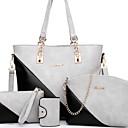 Χαμηλού Κόστους Τσάντες Tote-Γυναικεία PU Σετ τσάντα Συμπαγές Χρώμα 4 σετ Σετ τσαντών Καφέ / Λευκό / Ανθισμένο Ροζ