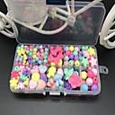 ราคาถูก ของเล่นวาดรูป-DIY เครื่องประดับวงน้ำยางและอุปกรณ์ลูกปัดที่มีสีสันกับกรณีการจัดเก็บรุ้งสไตล์ทอสี