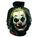 ราคาถูก ชุดรูปแบบภาพยนตร์และทีวี-Burlesque / Clown Joker Hoodie Polyster แฟชั่น Hoodie สำหรับ สำหรับผู้ชาย