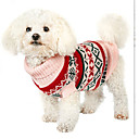 ราคาถูก เสื้อผ้าสำหรับสุนัข-สุนัข ชุด Jumpsuits ฤดูหนาว Dog Clothes ผ้าขนสัตว์สีธรรมชาติ เครื่องแต่งกาย ฝ้าย Snowflake สำหรับงานปีใหม่ XS S M L XL XXL