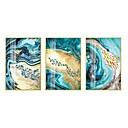 baratos Quadros com Moldura-Estampado Laminado Impressão De Canvas Modern 3 Painéis Art Prints