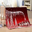 Χαμηλού Κόστους Κουβέρτες & Ριχτάρια-νέα Χριστούγεννα 3d εκτύπωση παχιά ζεστή φανέλα κουβέρτα για το χειμώνα