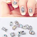 Χαμηλού Κόστους νυχιών Glitter-12 τεμάχια καθολική συνθετική πολύτιμων λίθων νυχιών κοσμήματα για δάχτυλο μόδας νυχιών τέχνη νυχιών μανικιούρ πεντικιούρ καθημερινή / βασική φεστιβάλ