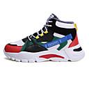 ราคาถูก รองเท้ากีฬาสำหรับผู้ชาย-สำหรับผู้ชาย รองเท้าบู้ทใส่สำหรับหิมะ ตารางไขว้ ฤดูหนาว ไม่เป็นทางการ รองเท้าผ้าใบ สีดำ / สีเขียว / สีเทา