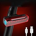 billige Sykkellykter og reflekser-LED Sykkellykter Belysning Baklys til sykkel Sykkel Sykling Vanntett Bærbar USB-ladeutgang Oppladbart Batteri Lithium-batteri 500 lm Oppladbart Batteri Innebygd strømforsyning Rød Sykling