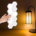 ราคาถูก สายไฟ LED-10 ชิ้นสร้างสรรค์รังผึ้ง modular ประกอบ helios สัมผัสโคมไฟติดผนังควอนตัมโคมไฟ led แม่เหล็กโคมไฟติดผนังโคมไฟห้องนอน