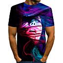 povoljno Modni satovi-Majica s rukavima Muškarci - Ulični šik / pretjeran Dnevno / Praznik Color block / 3D / Grafika Print purpurna boja