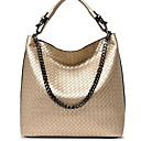 cheap Top Handles & Tote Bags-Women's PU Top Handle Bag Solid Color Black / Gold / Blue