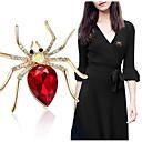 baratos Broches-Mulheres Aranhas Animal Fashion Elegante Broche Jóias Roxo Dourado Vermelho Para Casamento Festa Diário Casual
