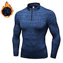 Χαμηλού Κόστους Γυμναστική, τρέξιμο και ρούχα γιόγκα-YUERLIAN Ανδρικά Pullover Tricou de Alergat Χειμώνας Μαύρο Κόκκινο Μπλε Σκληρό Μαύρο Γκρίζο Προβιά Τρέξιμο Fitness Γυμναστήριο προπόνηση Μακρυμάνικο Αθλητισμός Ρούχα Γυμναστικής / Υψηλή Ελαστικότητα