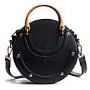 povoljno Tote torbe-Žene Patent-zatvarač PU Torba preko ramena Crn / Braon / Djetelina