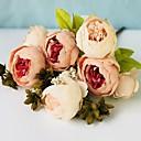 baratos Plantas Artificiais-Flores artificiais 1 Ramo Clássico Modern Peônias Guirlandas & Flor de Parede