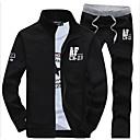 ราคาถูก ผ้าคลุมโซฟา-สำหรับผู้ชาย เพรียวบาง คอแสตนด์ แขนยาว Sport ซึ่งทำงานอยู่ activewear ชุด ลายตัวอักษร / ฤดูใบไม้ผลิ / ตก / ฤดูหนาว