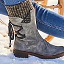 billige Mote Boots-Dame Støvler Tykk hæl Rund Tå PU Ankelstøvler Vinter Svart / Lilla / Rød