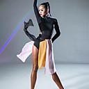 ราคาถูก เสื้อผ้ากีฬา-ชุดเต้นละติน ด้านล่าง สำหรับผู้หญิง Performance ชิฟฟอน กระโปรงระบาย / ผ่า ธรรมชาติ กระโปรง