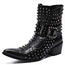 povoljno Muške čizme-Muškarci Fashion Boots Mekana koža Zima / Jesen zima Ležerne prilike / Uglađeni Čizme Non-klizanje Čizme gležnjače / do gležnja Crn / Zabava i večer