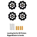 abordables Piezas y Accesorios de Impresoras 3D-Tuerca de nivelación de tornillo manual grande mejorada de 4 piezas para creality cr-10 cr-10s mini-ender-3 bricolaje piezas de impresora 3d3 combinación