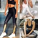Χαμηλού Κόστους Παπούτσια χορού λάτιν-Γυναικεία Ψηλή Μέση Παντελόνι για γιόγκα Στάμπα Μαύρο Μαύρο / Ασημί Κόκκινο Καφέ Σκούρο μωβ Μπορντώ Τρέξιμο Fitness Γυμναστήριο προπόνηση Καλσόν Ποδηλασία Κολάν Αθλητισμός Ρούχα Γυμναστικής