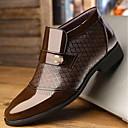 baratos Oxfords Masculinos-Homens Sapatos Confortáveis Couro de Porco / Couro Ecológico Primavera Mocassins e Slip-Ons Preto / Marron