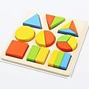 billiga Modeller & Modellpaket-Montessori – pedagogiska leksaker Byggklossar Utbildningsleksak Leksaker Fyrkantig Cirkelrunda Utbilding Originella Trä Flickor Pojkar 1