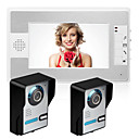 ราคาถูก ระบบ Video Door Phone-MOUNTAINONE SY812FA21 สาย มีลำโพงในตัว 7 inch Hands-free สองถึงหนึ่งโทรศัพท์ประตูบ้านแบบเห็นหน้า