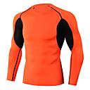 ราคาถูก เสื้อ, กางเกงขายาวและกางกางขาสั้นสำหรับใส่วิ่ง-สำหรับผู้ชาย ครูเน็ค เสื้อยืดรัดรูป useless สีพื้น สีดำ สีส้มอมแดง สีดำ / สีแดง สีเขียวอ่อน สีแดงสว่าง Elastane วิ่ง ฟิตเนส Racing Sweatshirt การบีบอัดสูท Tops แขนยาว กีฬา ชุดทำงาน / แห้งเร็ว