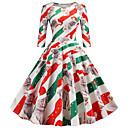 Χαμηλού Κόστους Θρησκευτικά Κοσμήματα-Audrey Hepburn Φορέματα Γυναικεία Ενηλίκων Χριστούγεννα Χριστούγεννα Χριστούγεννα Πολυεστέρας Φόρεμα