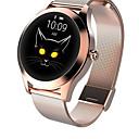 Χαμηλού Κόστους Έξυπνα Ρολόγια-kw10 τζόκερ smartwatch χρυσό ανοξείδωτο χάλυβα bt fitness tracker υποστήριξη ειδοποίηση / καρδιακός ρυθμός παρακολουθεί αθλητικό έξυπνο ρολόι για τηλέφωνα samsung / iphone / android
