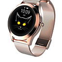 billige Smartklokker-kw10 joker smartwatch gull rustfritt stål bt fitness tracker støtte varsle / pulsmåler sport smartklokke for samsung / iphone / android telefoner