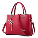 povoljno Tote torbe-Žene Patent-zatvarač PU Torba s ručkom Jedna barva Crn / Lila-roza / Blushing Pink
