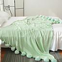 baratos Cobertores e Mantas-Cama Cobertores, Côr Sólida Fibras Acrilicas Confortável cobertores