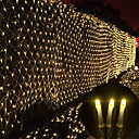 olcso LED szalagfények-KWB 20 m Fényfüzérek 200 LED Meleg fehér / Fehér / Kék Karácsony / Újévi Vízálló / Parti / Dekoratív 220-240 V 1set