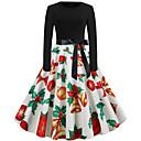 tanie Boże Narodzenie Kostiumy-Audrey Hepburn Sukienka Damskie Dla dorosłych Święta Święta Święta Poliester Sukienka