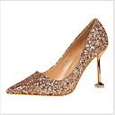 olcso Női magassarkú cipők-Női Magassarkúak Tűsarok Erősített lábujj PU Ősz & tél Fekete / Fehér / Világosbarna