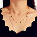 olcso Divat nyaklánc-Női Nyaklánc Mértani Függőleges U alakú divatba jövő Édes Divat Modern Króm Arany 45 cm Nyakláncok Ékszerek 1db Kompatibilitás fokozatokra osztás Ajándék Napi Szabadság Fesztivál