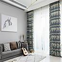 billige Gardiner-tilpasset moderne minimalistisk polyester-bomullstrykt stoff gardin stoff stue soverom gardin