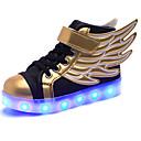 ราคาถูก รองเท้า LED-เด็กผู้ชาย ความสะดวกสบาย / Light Up รองเท้า Synthetics รองเท้าผ้าใบ เด็กน้อย (4-7ys) / Big Kids (7 ปี +) LED สีดำ ตก / ฤดูหนาว