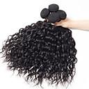"""billige Hairextension med naturlig farge-4 pakker Brasiliansk hår Naturlige bølger Ubehandlet hår Ubehandlet Menneskehår Menneskehår Vevet 12""""~28"""" Naturlig Hårvever med menneskehår Naturlig Beste kvalitet Til fargede kvinner Hairextensions"""