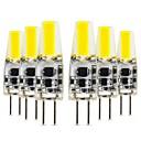 Χαμηλού Κόστους LED Bi-pin Λαμπτήρες-6pcs COB G4 Διακοσμητικό Silica Gel Τσιπ LED Λευκό Γαμήλιο Πάρτυ Διακόσμηση 3 W