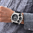 ราคาถูก นาฬิกากีฬา-Oulm สำหรับผู้ชาย นาฬิกาทหาร นาฬิกาข้อมือ สายการบิน นาฬิกาอิเล็กทรอนิกส์ (Quartz) นาฬิกาควอตซ์ญี่ปุ่น ที่มีขนาดใหญ่ หนัง ดำ / น้ำตาล เครื่องวัดอุณหภูมิ แสดงสองเวลา เท่ห์ ระบบอนาล็อก สีดำ สีน้ำตาล