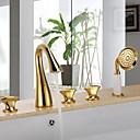 ราคาถูก ก๊อกอ่างอาบน้ำ-ก๊อกน้ำฝักบัว - ร่วมสมัย ติดผนัง Ceramic Valve Bath Shower Mixer Taps