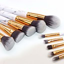 baratos Sobrancelhas-Profissional Pincéis de maquiagem Conjuntos de pincel 10pçs Amiga-do-Ambiente Profissional Macio Pêlo Sintético Mármore / Granito / Plástico Pincéis de Maquiagem para Pincel para Blush Pincel para