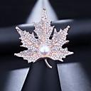 ราคาถูก เข็มกลัด-สำหรับผู้หญิง Cubic Zirconia เข็มกลัด คลาสสิค Leaf Shape หวาน สง่างาม เข็มกลัด เครื่องประดับ ทอง สำหรับ งานแต่งงาน ปาร์ตี้