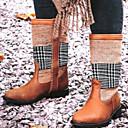 olcso Női csizmák-Női Csizmák Kényelmes cipők Lapos Kerek orrú PU Magas szárú csizmák Tél Sárga