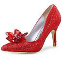 Χαμηλού Κόστους Γυναικεία παπούτσια γάμου-Γυναικεία Γαμήλια παπούτσια Τακούνι Στιλέτο Μυτερή Μύτη Τεχνητό διαμάντι Συνθετικά Γλυκός / Μινιμαλισμός Άνοιξη & Χειμώνας / Φθινόπωρο & Χειμώνας Ασημί / Κόκκινο / Γάμου / Πάρτι & Βραδινή Έξοδος