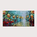 abordables Peintures à Fleurs / Botaniques-Peinture à l'huile Hang-peint Peint à la main - Abstrait Paysage Moderne Sans cadre intérieur