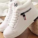 Χαμηλού Κόστους Γυναικεία Αθλητικά-Γυναικεία Αθλητικά Παπούτσια Επίπεδο Τακούνι Στρογγυλή Μύτη PU Φθινόπωρο & Χειμώνας Μαύρο / Λευκό / Ροζ