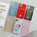 billige iPhone-etuier-Etui Til Apple iPhone 11 / iPhone 11 Pro / iPhone 11 Pro Max Kortholder / Støtsikker / Gjennomsiktig Bakdeksel Ensfarget TPU